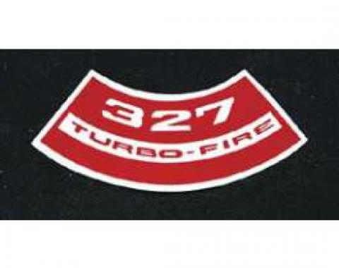 Full Size Chevy Air Cleaner Decal, 327ci Turbo-Fire, 1965-1972