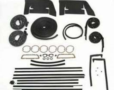 Full Size Chevy Weatherstrip Kit, 2-Door Hardtop, Impala, 1960