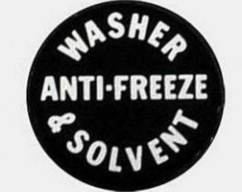 Full Size Chevy Washer Filler Bottle Cap Decal, 1961-1969