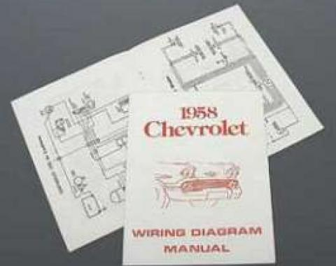 Full Size Chevy Wiring Harness Diagram Manual, 1958