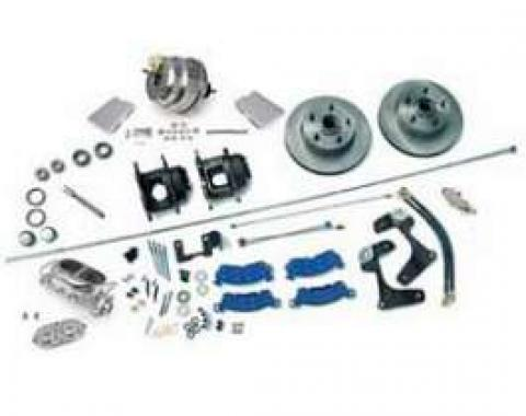 Full Size Chevy Power Disc Brake Kit, With Stainless Steel Booster Chrome Master Cylinder, 1958