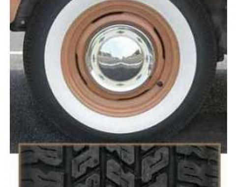 Full Size Chevy Radial Tire, P205/75R14, 2-1/2 Whitewall, American Classic, 1958-1961