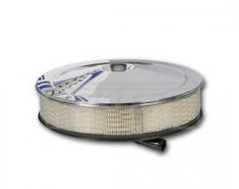 Full Size Chevy Air Cleaner Assembly, Open Element With Chrome Lid, 427 CI, 1965-1969