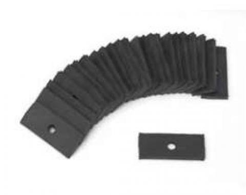 Full Size Chevy Convertible Top Rear Tack Rail Pad Set, 1958-1964