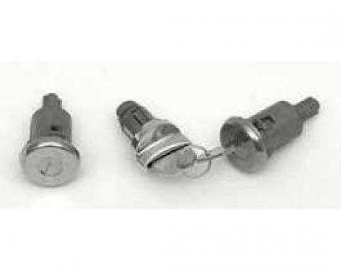 Full Size Chevy Ignition Lock Cylinder & Door Lock Set, With OriginalStyle Keys, 1958, 1961-1964