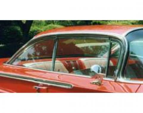 Full Size Chevy Vent Glass, Tinted, Non-Date Coded, 2-Door Hardtop, Impala, 1962