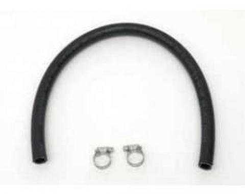 Full Size Chevy Remote Power Steering Reservoir Hose, With Clamps, 1958-1972