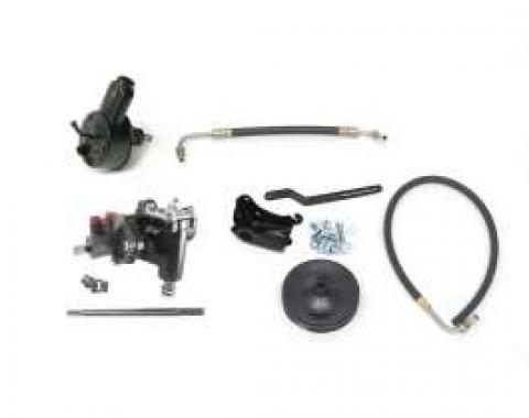 Full Size Chevy Power Steering Conversion Kit, For Cars With Small Block Engine, Delphi 600, Borgeson, 1958-1964