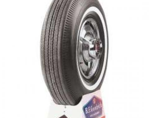 Full Size Chevy Tire, 8.00 x 14, With 1 White Wall, B.F. Goodrich Bias Ply, 1962-1964