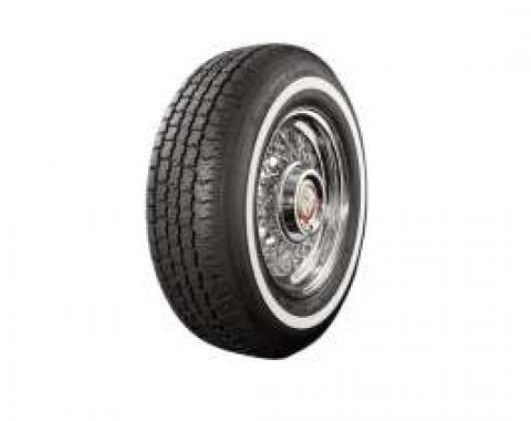Full Size Chevy Radial Tire, P215 x 14, With 1 Whitewall, American Classic, 1962-1964