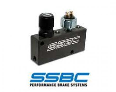 Full Size Chevy Proportioning Valve, SSBC, Adjustable, With Brake Light Switch