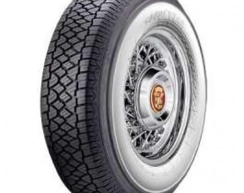 Full Size Chevy Radial Tire, 205/75-R14 With 2-3/4 Wide Whitewall, Goodyear, 1958-1961