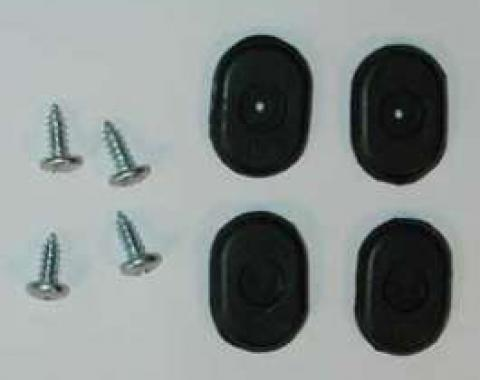 Full Size Chevy Bucket Seat Back Stops, Lower, SS, 1962-1964