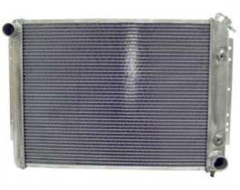 Full Size Chevy Radiator, Aluminum Crossflow, Passenger Side Top Outlet, Northern, 1959-1970