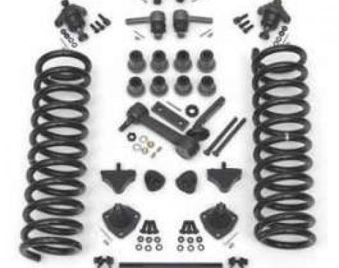 Full Size Chevy Front End Suspension Rebuild Kit, With Heavy-Duty Coil Springs & Polyurethane Bushings, 1961-1964