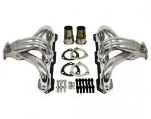 Chevy Full Size Ceramic Coated Shorty Headers, Small Block, 1958-1972