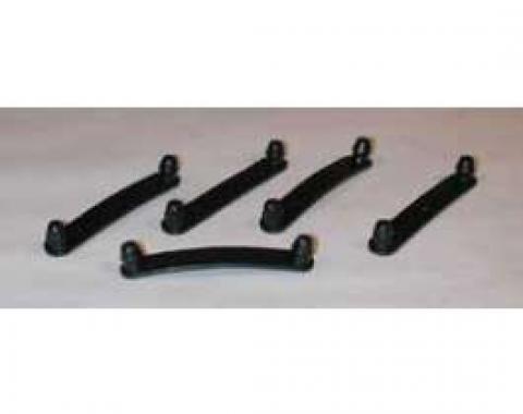 Full Size Chevy Inner Fender Wiring Harness Straps, Black, 1958-1972