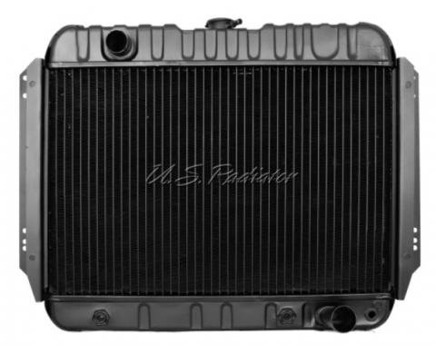 Full Size Chevy Radiator, Small Block with Air Conditioning, U.S. Radiator, 1967