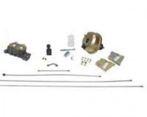 Full Size Chevy Power Booster Dual Master Cylinder Adjustable Proportioning Valve Kit, 1958-1964