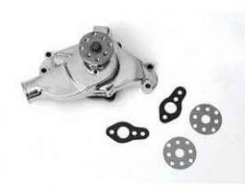 Full Size Chevy Water Pump, Small Block, Chrome, 1958-1972