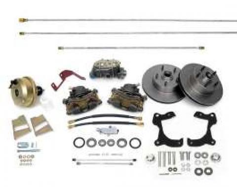 Full Size Chevy Front Disc Brake Kit, Power, 1959-1964