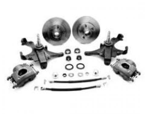 Full Size Chevy Front Drop Spindle Disc Brake Kit, Non-Power, 1958-1964