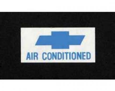 Full Size Chevy Air Conditioned Window Decal, 1966-1967