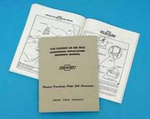 Full Size Chevy Accessory Installation Reference Manual, 1958