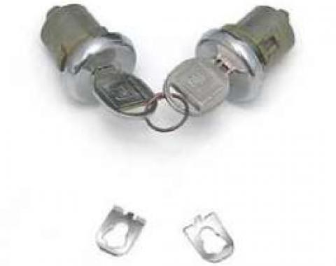 Full Size Chevy Door Locks, With Original Style Keys, 2 & 4-Door, 1965-1966