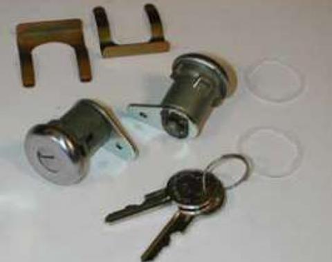 Full Size Chevy Door Locks, With Keys, Sedan, 1961-1964