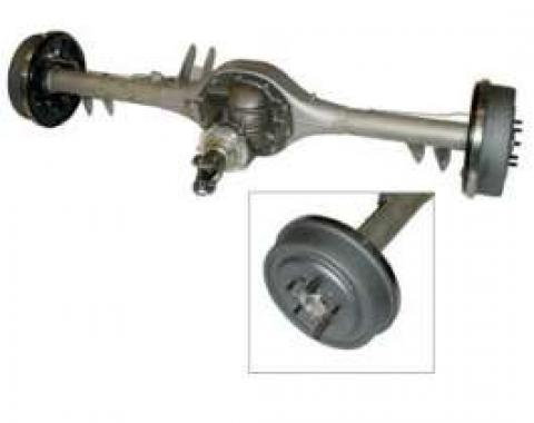 Full Size Chevy Rear End, 9, Complete, With 11 Drum Brakes & Stainless Steel Brake Lines, 1959-1964