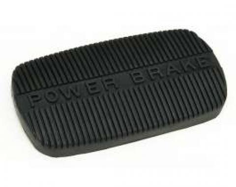 Full Size Chevy Power Brake Pedal Pad, Automatic Transmission, 1958-1970