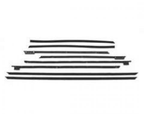 PUI Standard Windowfelt Weather Strip Kit 1955-79 Impala 2-Door Hardtop F219-1