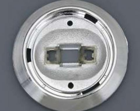 Full Size Chevy Dome Light Lens Bezel, Impala & Caprice, Except Convertible, 1971-1972