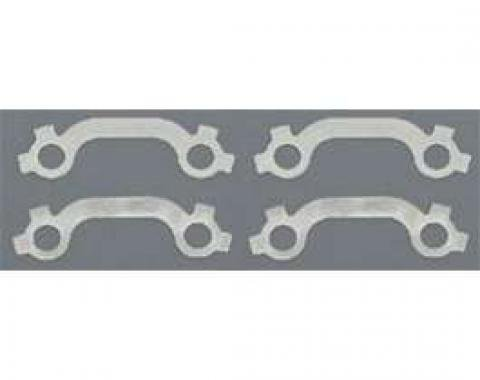 Full Size Chevy Exhaust Manifold Bolt French Lock Set, Stainless Steel, Small Block, 1958-1964