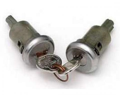 Full Size Chevy Door Locks, With Original Keys, 2-Door, 1958 & 1961-1964