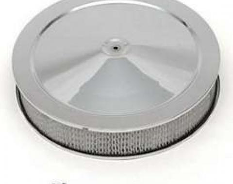 Full Size Chevy Air Cleaner, 14, Chrome, 1958-1972