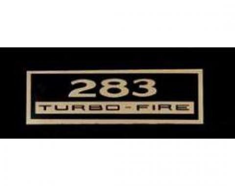 Full Size Chevy Valve Cover Decal, Turbo-Fire, 283ci, 1962-1963