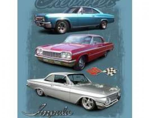 "Chevy Impala T-Shirt, ""Three Impalas"" 
