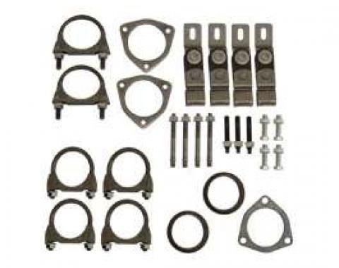 Full Size Chevy Installation Kit, Dual Exhaust, 2.5, 1965-1970