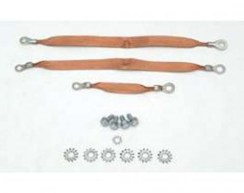 Full Size Chevy Ground Wire Strap Kit, 1958