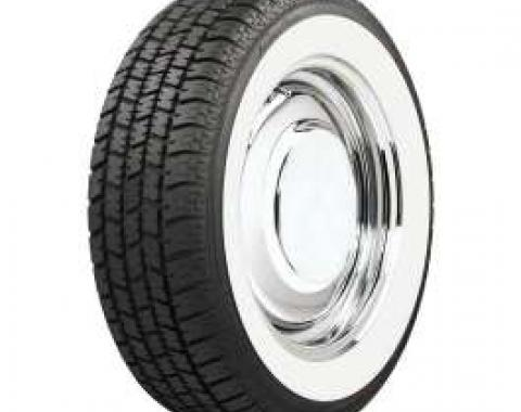 Full Size Chevy Radial Tire, P215/75R14, With 2-1/2 Whitewall, American Classic, 1958-1961