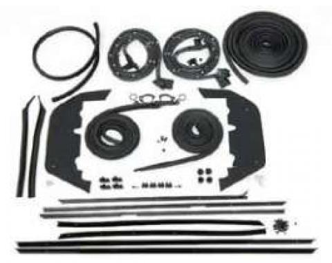 Full Size Chevy Weatherstrip Kit, 2-Door Hardtop, Impala, 1966