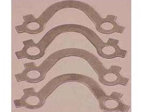 Full Size Chevy Exhaust Manifold Bolt Lock Set, Stainless Steel, Small Block, 1965-1972