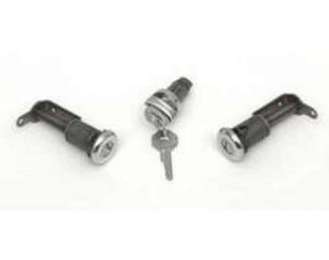 Full Size Chevy Ignition Lock Cylinder & Door Lock Set, With Original Style Keys, 2-Door, 1959-1960