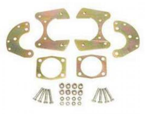 Full Size Chevy Rear Disc Brake Bracket Kit, For 9 Ford With 3 & 8 T-Bolts, 1958-1964