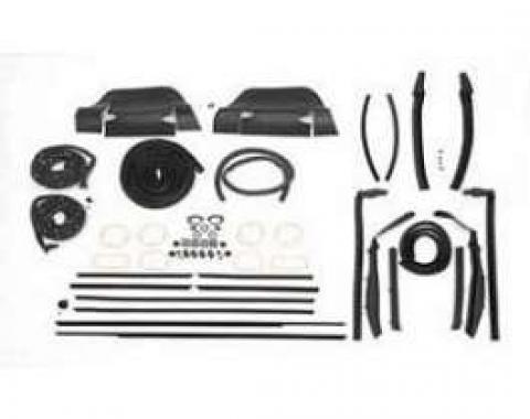 Full Size Chevy Weatherstrip Kit, Convertible, Impala, 1964