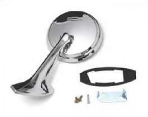 Full Size Chevy Outside Door Mirror, Left, 1965-1966