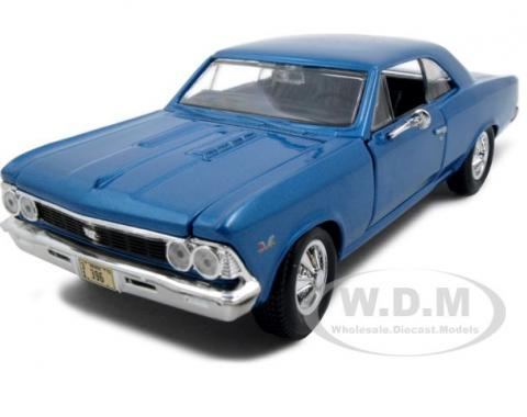 1966 Chevrolet Chevelle SS 396 Blue 1/24 Diecast Model Car