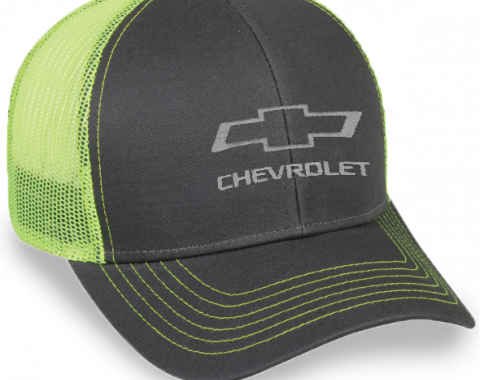 Charcoal / Neon Green Mesh Hat with Snap Back